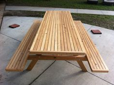 Cypress Picnic Table Executive by DustysTables on Etsy