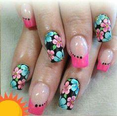Love Nails, Pretty Nails, Karma Nails, Paul Design, French Tip Nails, Cute Nail Art, Creative Nails, Nail Arts, Spring Nails