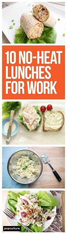 No heat lunch recipes to bring to work. Meal plan and meet your weight loss goals. #lunchideas #lunch #healthylunches #dieting #worklunch #healthyliving #mealprep #recipes