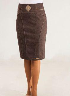 ee6e1ae36c6 Классическая теплая юбка средней посадки  продажа