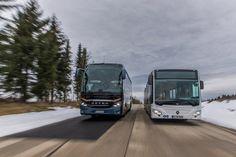 Setra S 516 HDH and Mercedes-Benz CapaCity L