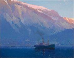 """Early Morning, Juneau, Alaska"" by Sydney Laurence   courtesy of the juneau-douglas city museum / JDCM 2010.24.001"