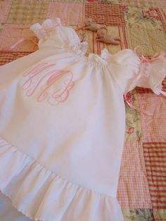 Juvie Moon Designs Monogrammed Baby Top and Pants Set Size 3 months to 2 years
