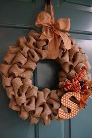 Swenson Style: Burlap Bubble Wreath