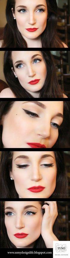 Easy Pin-Up makeup tutorial!  IVSO Makeup More tutorials at www.facebook.com/ivsomakeup