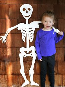 Fun at Home with Kids: DIY Halloween Decoration: Life-Sized Skeleton