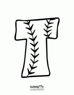 Printable Baseball Alphabet Letters Baseball Alphabet Letter T – Craft Jr. Baseball Bulletin Boards, Baseball Letters, Reading Bulletin Boards, Bulletin Board Letters, Baseball Stuff, Baseball Party, Baseball Jerseys, Letter T Crafts, Alphabet Letters To Print
