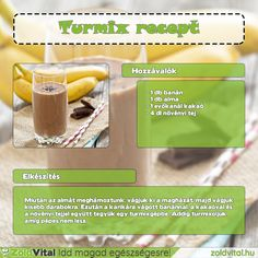 Kakaós banán turmix recept #turmix