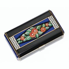 ART DECO ENAMEL, COLORED STONE AND DIAMOND VANITY CASE, VAN CLEEF & ARPELS, PARIS, 1926