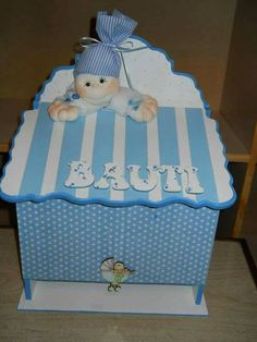 Hello Kitty Collection, Baby Shower, Ideas Para, Toy Chest, Scrap, Teddy Bear, Storage, Box, Kids