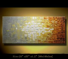 Original Abstract Painting, Modern Landscape Painting ,Palette Knife, Home Decor,Thick Textured Painting on Canvas  by Chen  c025. $258.00, via Etsy.