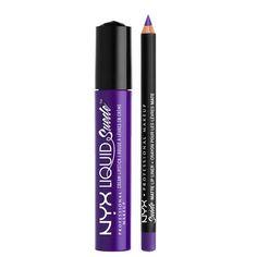 NYX Cosmetics Liquid Suede Lippie Duo - Amethyst
