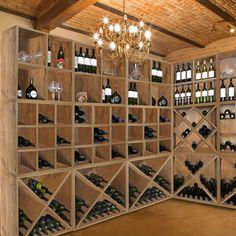 Weinregal-System CAVEPRO Wildeiche für Weinschätze im Keller