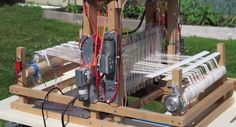 Fred Hoefler's project to adapt a hand-powered loom so it can be controlled by a Raspberry Pi is a great way of mixing textiles and technology. You can find all the posts related to the project on Fred's blog at photographic-perspectives.com/tag/powered-loom/