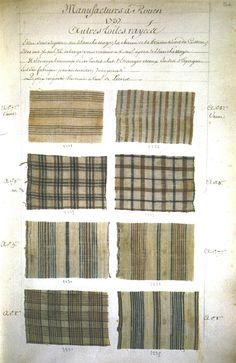 1737 fabric swatches (French)