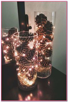 Elegant Pinecone Centerpiece Of Pine Cone Wedding Decorations Inspirational Best. Elegant Pinecone Centerpiece Of Pine Cone Wedding Decorations Inspirational Best 25 Simple Wedding Centerpieces, Winter Wedding Decorations, Christmas Decorations, Christmas Wedding Centerpieces, Pine Cone Decorations, Autumn Decorations, Christmas Lights In Jars, Winter Table Centerpieces, Modern Centerpieces