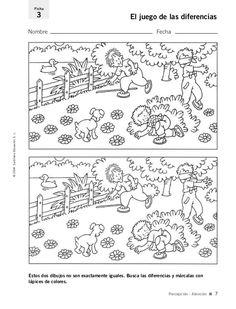 Estos dos dibujos no son exactamente iguales. Busca las diferencias y márcalas con lápices de colores. Nombre Fecha Ficha ...