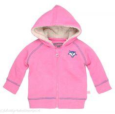 Roze vestje van Moodstreet met een glitter in de stof. Met raglan mouwen die aan…