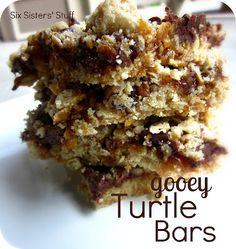 Gooey Turtle Bars Recipe on MyRecipeMagic.com