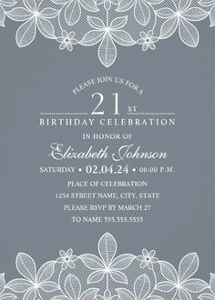 Wedding invitation with javanese culture touch vendor of the week bluish grey lace 21st birthday invitations elegant luxury custom invites personalized online stopboris Images