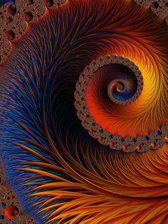 Glowing Spiral Digital Art