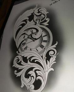 tattooart A very nice pocket watch tattoo design cloc … – Design tattos Clock Tattoo Design, Compass Tattoo Design, Tattoo Sleeve Designs, Sleeve Tattoos, Pocket Watch Tattoos, Pocket Watch Tattoo Design, Hai Tattoos, Body Art Tattoos, Tattoos For Guys
