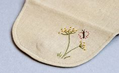 """Cosmetic Bag / Pouch """"Country"""". DIY Photo Tutorial and Template Pattern."""