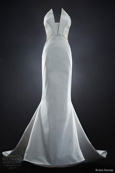 Rubin Singer Sculptural Wedding Gown