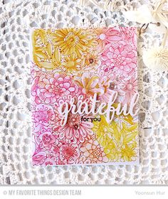 Bundles of Blossoms Background, Grateful for You - Yoonsun Hur  #mftstamps