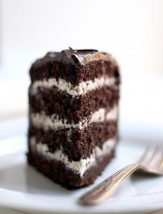 Salted Caramel Buttercream Dark Chocolate Cake