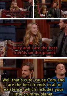 Sorry Maya. Cory and Shawn is one of the best TV friendships EVER.