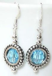 Make these pretty Swarovski Aquamarine (March birthstone) earrings - New on the Idea Page today - project #113