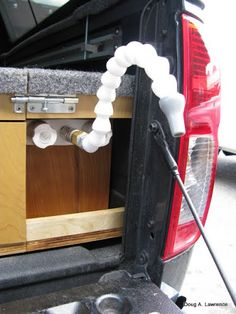 If You're Thinking Of Converting a Van Into a Tiny Living Space on Wheels, Have A Look At These Great Storage Drawers And Sleeping Platform. Truck Bed Drawers, Truck Bed Storage, Truck Bed Camping, Camping Stove, Pickup Camping, Camping Box, Camping Gear, Outdoor Camping, Truck Toppers