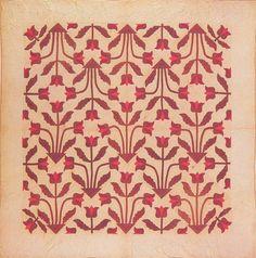 Applique Quilt, 1895. Made by Rebecca Wilhelm. Emporia, Kansas.