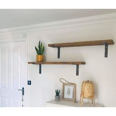 Long Wall Shelves, Long Floating Shelves, Timber Shelves, Reclaimed Wood Floating Shelves, Floating Shelves Bedroom, Oak Shelves, Solid Wood Shelves, Wood Wall Shelf, Rustic Shelves