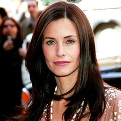 Courteney Cox - 2005 Contemplating cutting my hair and getting layers. Perhaps something like Courteney Cox's long, face-framing layers?