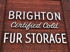 Brighton Certified Cold Fur Storage. Image by Aonghais MacInnes.