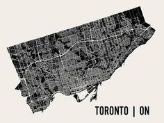Toronto Art Print by Mr City Printing at Art.com