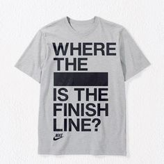 Nike Running Tshirt Collection 4 T Shirt. I'd rock this for running long distance races