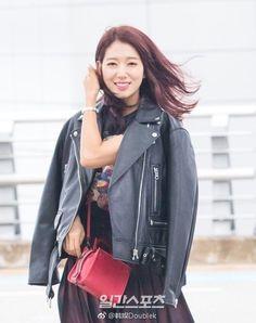 Park Shin Hye Dresses Pretty in Punk for Latest Airport Fashion | A Koala's Playground