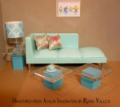 Miniature dollhouse modern wood and by MiniaturesfromAvalon