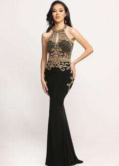 Sparkle #Prom Dresses | Style #71743 |Black + Gold Beaded Halter Sparkle Prom #Dress #Gowns #Fashion #Homecoming http://sparkleprom.com/blog/sparkle-prom-dresses-style-71743-black-gold-beaded-halter/?utm_content=buffer8ab62&utm_medium=social&utm_source=pinterest.com&utm_campaign=buffer