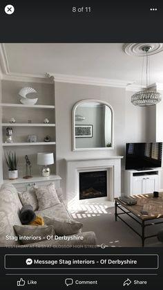 Log Burner Living Room, Decor Home Living Room, Living Room Grey, Home And Living, Living Room Designs, Living Room Furniture, Living Rooms, Home Decor, Grey Fireplace