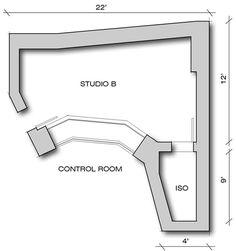 Studio B Floorplan Studio Build, Home Studio, Studio Floor Plans, Recorder Music, Studio Design, Recording Studio, Studio Ideas, Revolution, Layouts