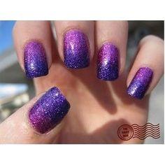 purple+and+neon+green+nail+designs   purple glitter nail art design purple and orange nail art