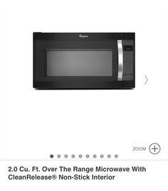 Black Whirlpool microwave