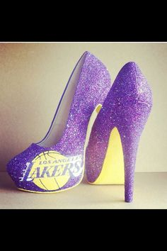 Lakers heels! Need these!