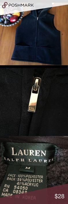 Ralph Lauren vest Super comfy and warm Ralph Lauren vest size medium. Color is dark blue Ralph Lauren Jackets & Coats Vests