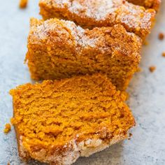 Did you know Silk® has a ton of tasty recipes, like this one for Cinnamon Sugar Pumpkin Bread. -- okay, I need almond milk now Moist Pumpkin Bread, Coconut Milk Recipes, Sugar Pumpkin, Dairy Free Recipes, Pumpkin Recipes, Plant Based Recipes, Dessert Recipes, Food And Drink, Yummy Food