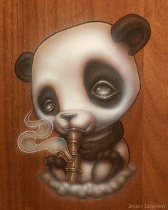 happy panda by jason jacenko http://barefootmarley.tumblr.com/post/36198072306